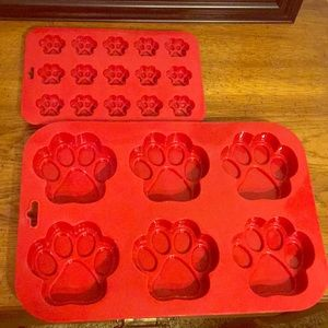 Dog Paw Print Candy Cake Soap Molds